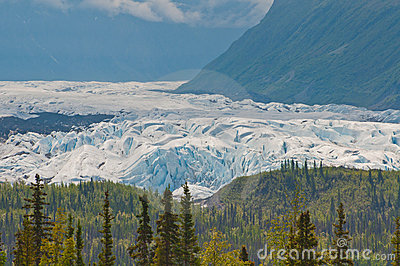 Closeup of majestic glacier