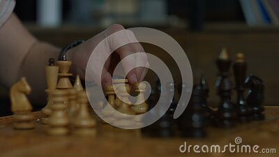 White rook capturing black rook in chess game stock video