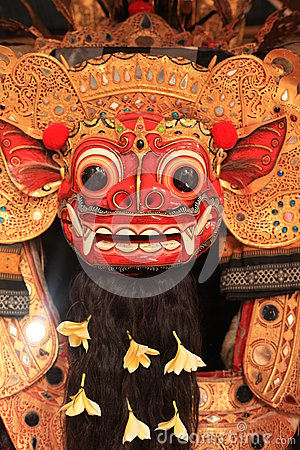 Closeup Mask of Barong Balinese
