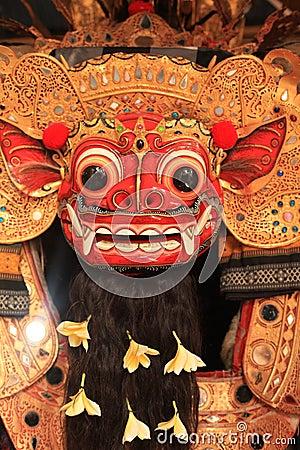 Closeup Mask of Barong Balinese