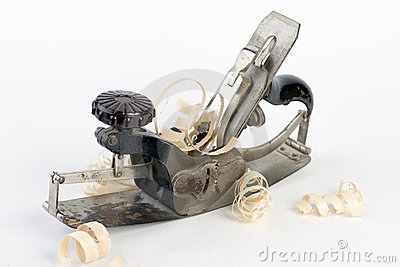 Closeup of metal carpenter Planer