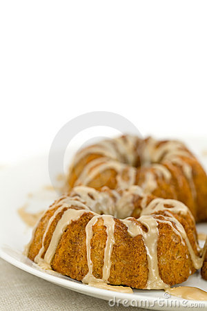 Closeup of Mini Bundt Cakes on Plate
