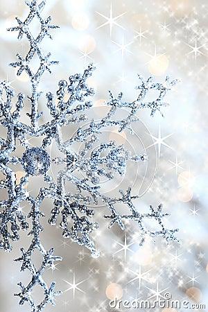 Free Closeup O Snowflake And Stars Royalty Free Stock Photo - 3656445