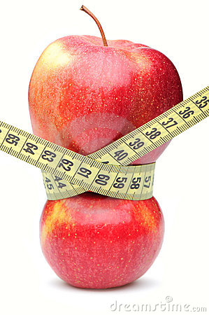 Free Closeup Of A Red Apple With A Measuring Tape Royalty Free Stock Photography - 15183877