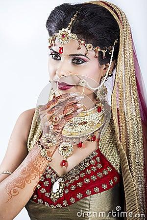 Free Closeup Of Beautiful Indian Bride Stock Photos - 60201993
