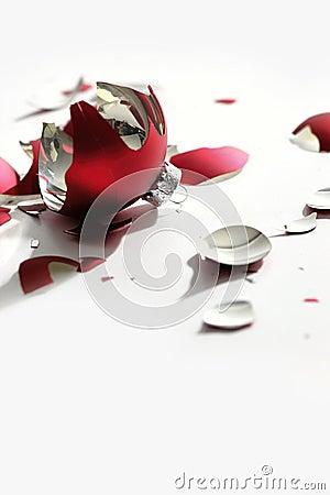 Free Closeup Of Broken Christmas Ball On White Stock Photos - 28116213