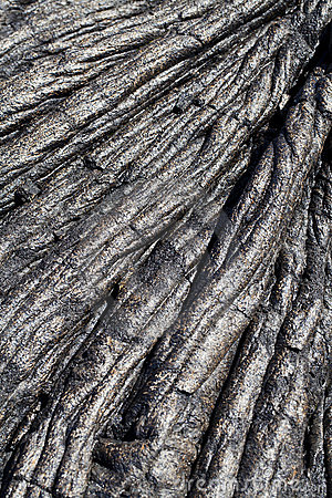 Closeup of old dried lava flow Hawaii