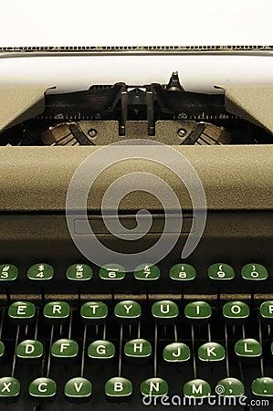 Closeup of old typewrite circa 1950s