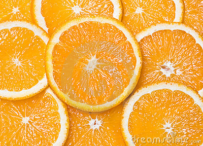 Closeup Orange Segments As Backgrounds Royalty Free Stock