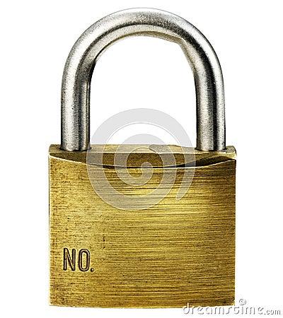 Closeup of padlock