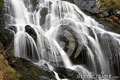 Closeup of Panoramic Waterfall