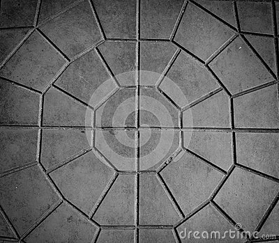 Closeup paving tile pattern