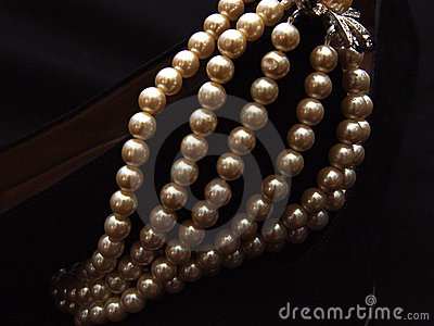 Closeup Pearls on Suede