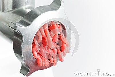 Closeup photo of mincer machine