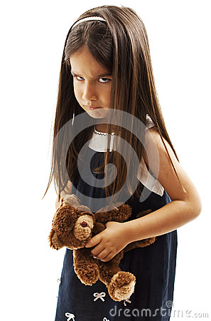 Free Closeup Photo Of Little Girl Shows Her Furrowed Brow And Irritated Frown Stock Image - 77912831