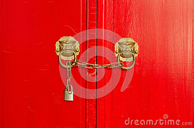 Closeup photo of traditional door and locks