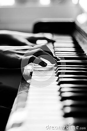 Closeup on Piano
