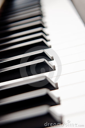 Closeup of Piano Keys