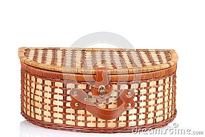 Closeup picnic basket
