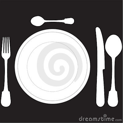 closeup of a place setting