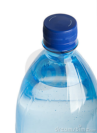 Closeup of plastic bootle with water