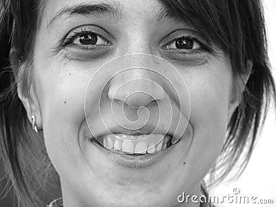 Closeup portrait of a happy girl