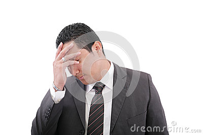 Pensive worried businessman