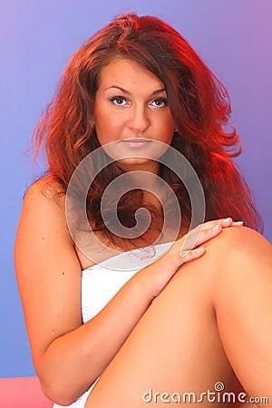 Closeup portrait of a sexy girl