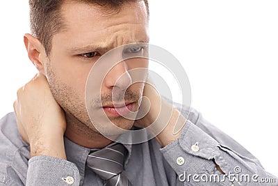 Closeup portrait of troubled businessman