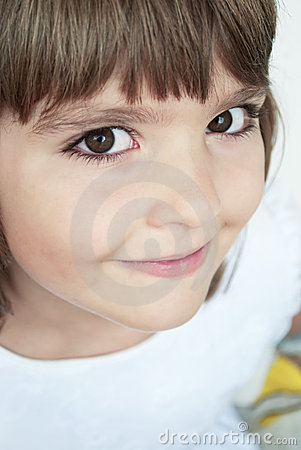 Closeup portrait of young girl