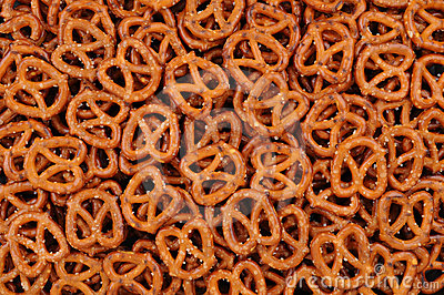 Closeup of Pretzels