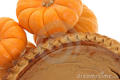 Closeup of pumpkin pie