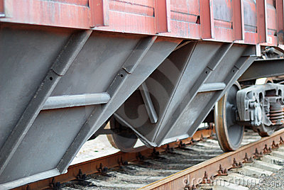 Closeup Of A Railroad Cargo Carriage Royalty Free Stock Image - Image: 8413316