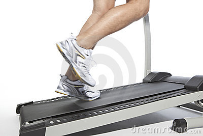 Closeup of running man