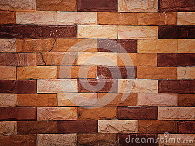 Closeup sand stone brick wall