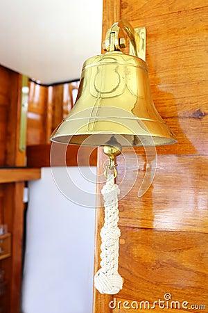 Closeup of ship bell