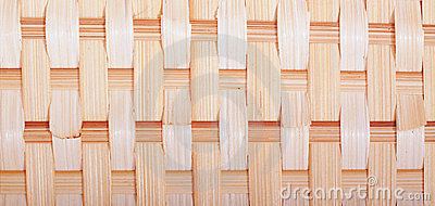 Closeup shot of a basket weave