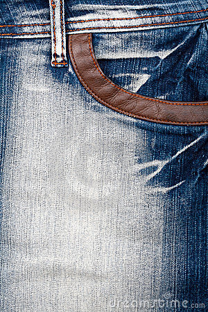 Closeup shot of jeans front