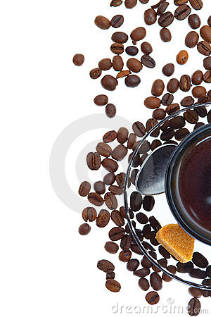 Free Closeup Shot Of Italian Espresso With Coffe Beans Stock Image - 20567551