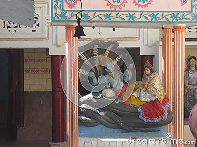 Closeup Shri Adi Badrinath Temple Lakshman Jhula Rishikesh India