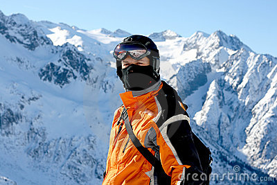 Closeup of Skier