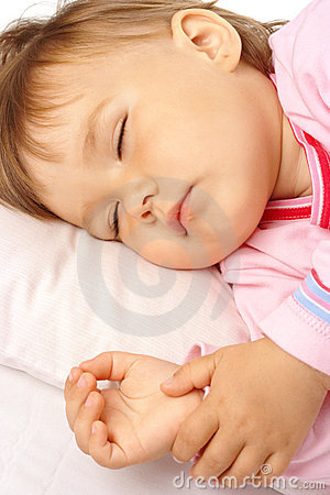 Closeup of a sleeping kid