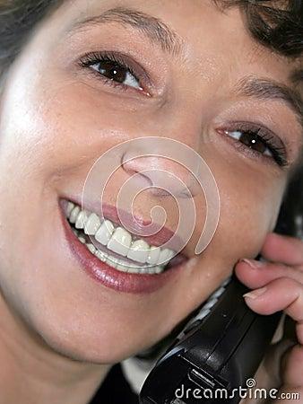 Closeup of a smiling woman