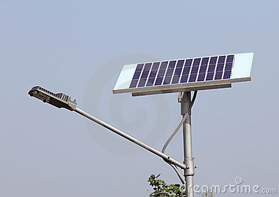 Closeup of Solar Street Light/lamp