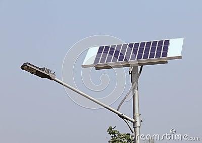 Closeup of Solar Street Light/lamp