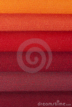 Closeup of stacked fabric