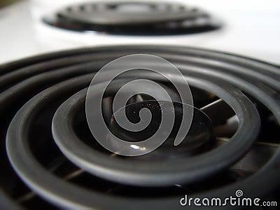 Closeup of Stove Burners
