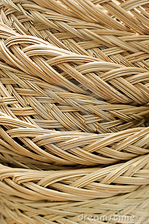 Closeup Structure of Rattan Weave Texture