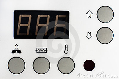 Closeup of a thermostat
