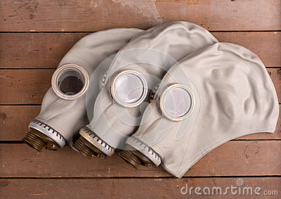 Old gas masks